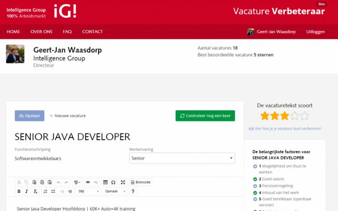 VacatureVerbeteraar.nl gaat op in nieuwe recruitment-module van Textmetrics: