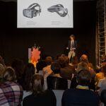 Daniel Doornink alias Daan Kip van VRBASE verzorgde de afsluitende keynote over virtual en augmented reality.