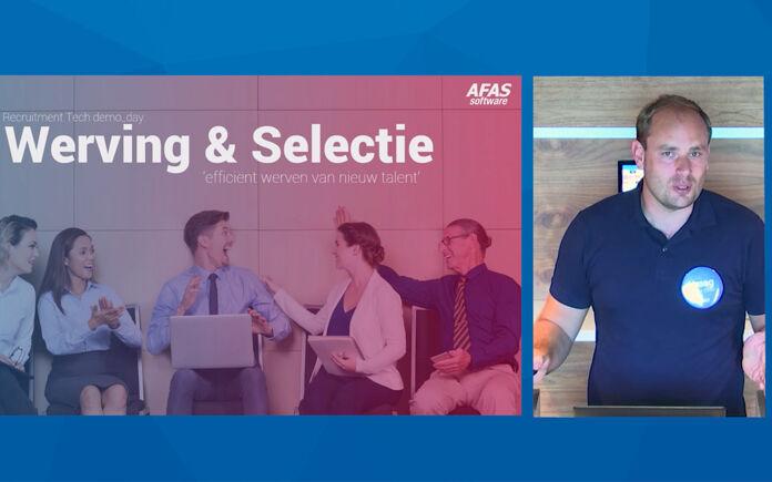 Kijk de demo talk van AFAS terug: Efficiënt werven van nieuw talent