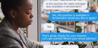 """Gebruikers Visma kunnen nu met Joboti solliciteren via Whatsapp: """"Veel leuker voor de kandidaat"""""""