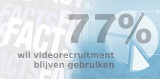 Friday Fact: 77% van de recruiters wil ook post-corona gebruik blijven maken van videorecruitment