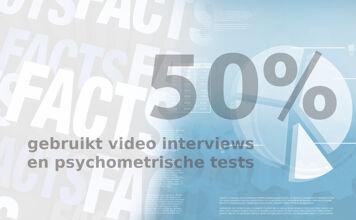 Friday Fact: Video interviews en psychometrische tests zijn het populairst onder recruiters