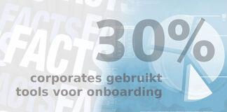Friday Fact: 30% van de corporates maakt gebruik van tooling voor onboarding
